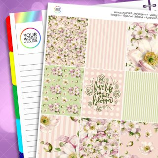 Full Bloom Erin Condren Weekly Planner Sticker Kit