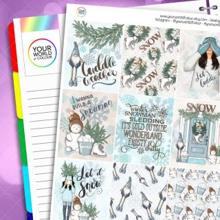 Let It Snow Erin Condren Weekly Planner Sticker Kit