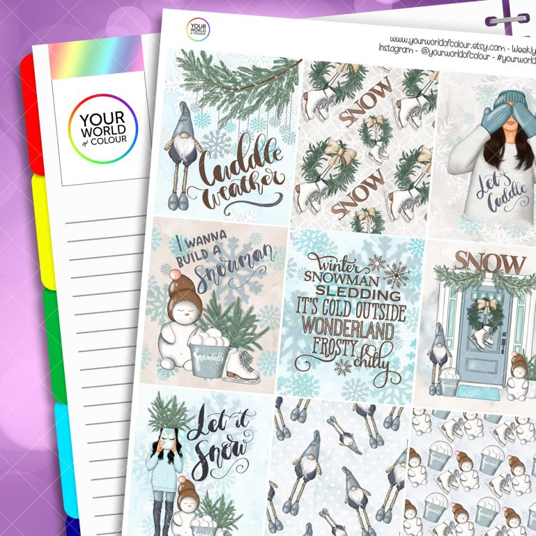 Let It Snow Erin Condren Weekly Planner Sticker Kit