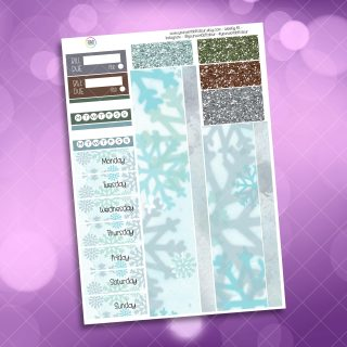 Let It Snow Washi and Date Cover Stickers