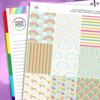 Rainbows Erin Condren Weekly Planner Sticker Kit