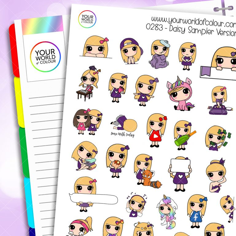 Sampler Daisy 1.0 Character Stickers