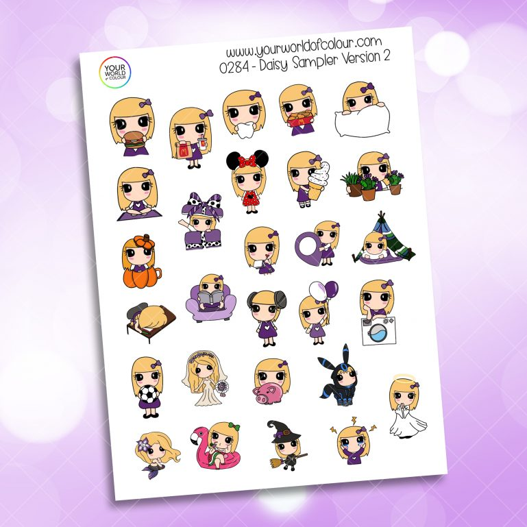 Sampler Daisy 2.0 Character Sticker