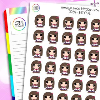 Cake Iris Character Stickers