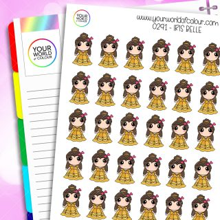 Belle Iris Character Stickers