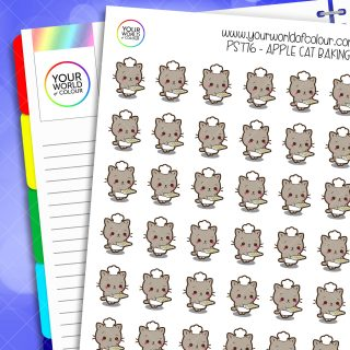 Apple Cat Baking Planner Stickers