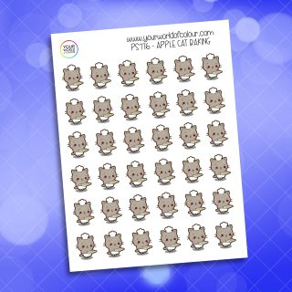 Apple Cat Baking Planner Stickers