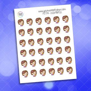Lilly Parcel Planner Sticker