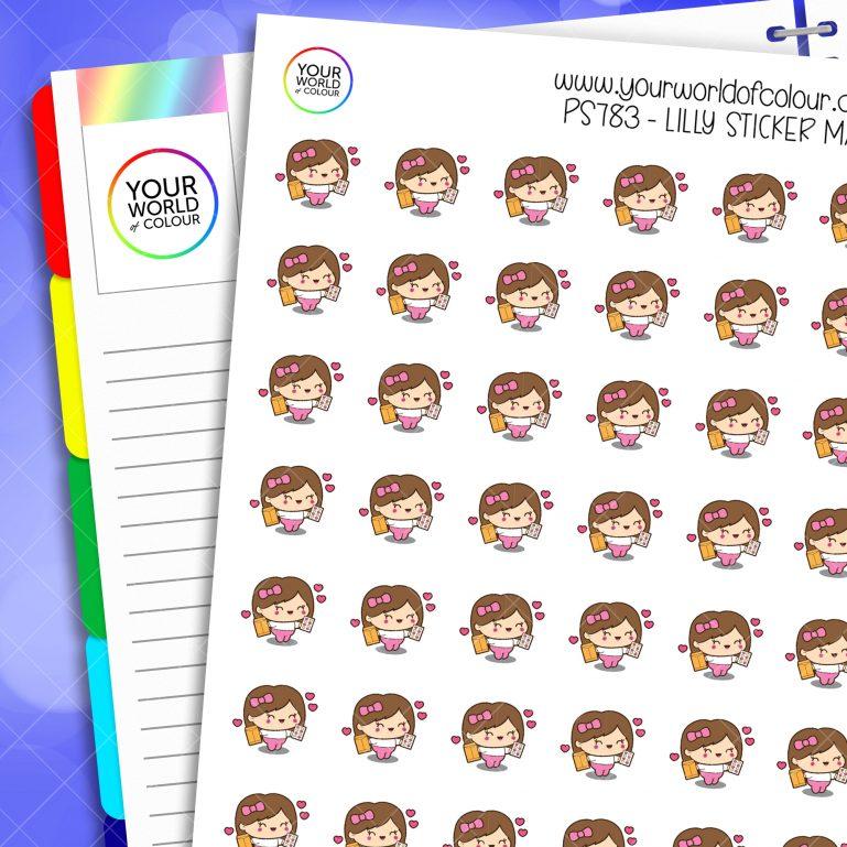 Lilly Sticker Mail Planner Stickers