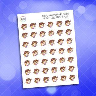 Lilly Sticker Mail Planner Sticker