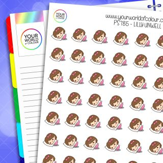 Lilly Unwell Planner Stickers