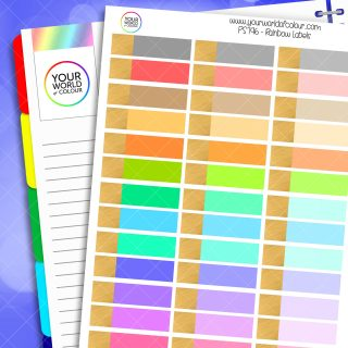 Rainbow Label Planner Stickers