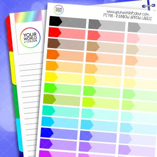 Rainbow Arrow Label Planner Stickers
