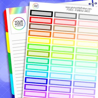 Rainbow Arrow Frame Label Planner Stickers