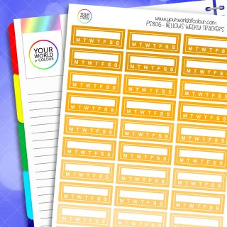 Weekly Tracker Planner Stickers - Yellows