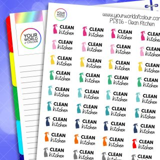 Clean Kitchen Planner Stickers