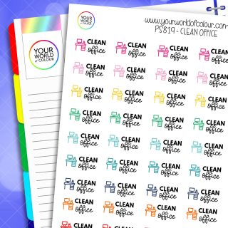 Clean Office Planner Stickers