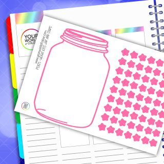 Weight Loss Jar and Star Planner Stickers