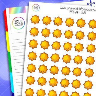 Sun Planner Stickers