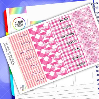 Date Cover Planner Stickers - Pink Vol 2