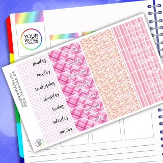 Date Cover Planner Stickers - Pink Vol 4