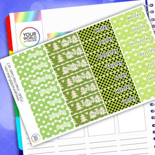 Date Cover Planner Sticker - Green Vol 2
