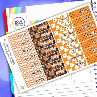 Date Cover Planner Stickers - Orange Vol 2