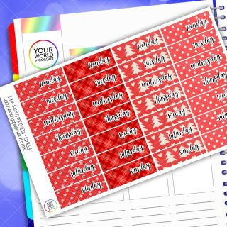 Date Cover Planner Stickers - Red Vol 1