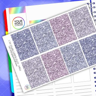 Glitter Header Planner Stickers - Purple Vol 1