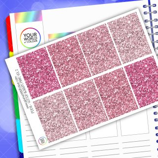 Glitter Header Planner Stickers - Pink Vol 1