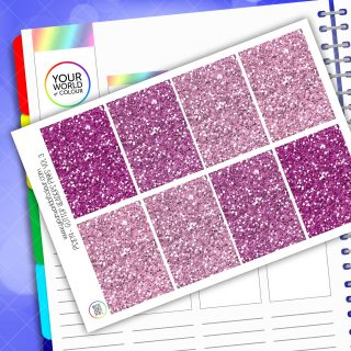 Glitter Header Planner Stickers - Pink Vol 3