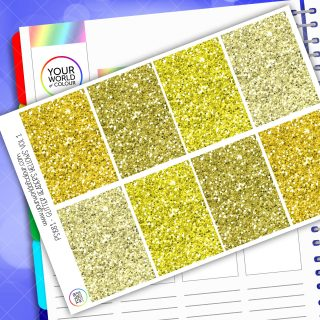 Glitter Header Planner Stickers - Yellow Vol 1
