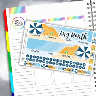 Beach Brolly Monthly Overview Sticker Kit