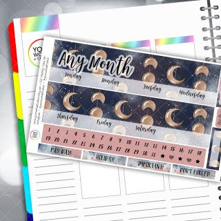 Moonshine Monthly Overview Sticker Kit