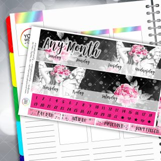 Fairy Life Monthly Overview Sticker Kit