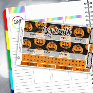 Pumpkins Monthly Overview Sticker Kit