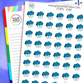 Rain Weather Planner Stickers