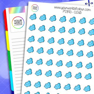 Cloud Weather Planner Stickers