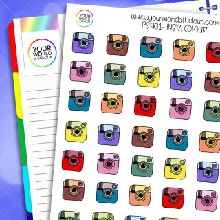 Insta Planner Stickers - Colour
