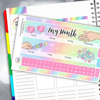 Sweet Summer Erin Condren Monthly Planner Sticker Kit