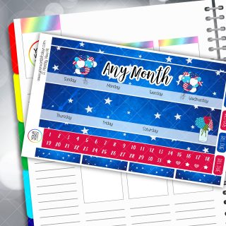 Fourth Of July Erin Condren Monthly Planner Sticker Kit