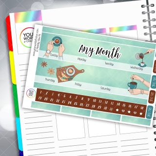 Coffee Erin Condren Monthly Planner Sticker Kit