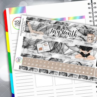 Chillax Erin Condren Monthly Planner Sticker Kit