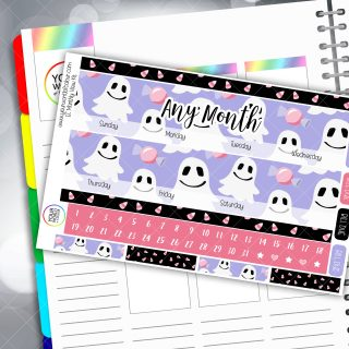 Ghoulish Treats Erin Condren Monthly Planner Sticker Kit