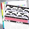 Midnight Bats Erin Condren Monthly Planner Sticker Kit