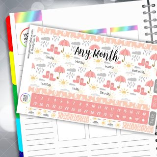 Sun Always Shines Erin Condren Monthly Planner Sticker Kit