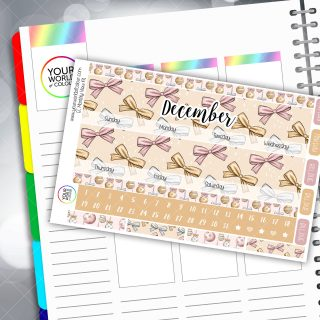 Wrapped Up Baulballs Erin Condren Monthly Planner Sticker Kit