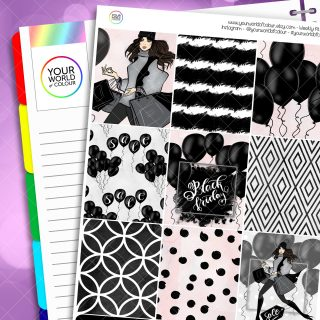 Black Friday Erin Condren Weekly Planner Sticker Kit