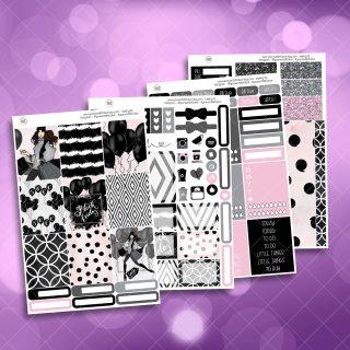 Black Friday Full Four Sheet Weekly Planner Sticker Kit