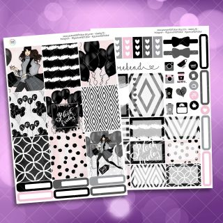 Black Friday Two Sheet Weekly Planner Sticker Kit